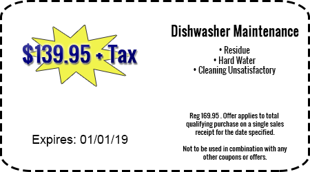 $139.95 + Tax Dishwasher Maintenance