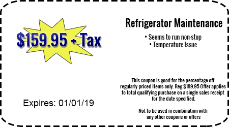 $159.95 + Tax Refrigerator Maintenance